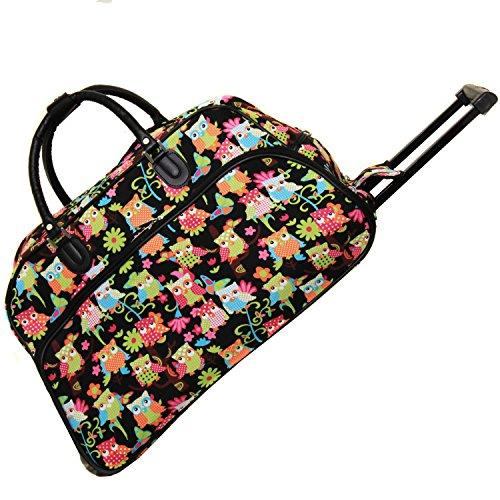 World Traveler 21-Inch Carry-On Rolling Duffel Bag - Multi Owl