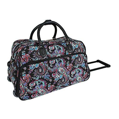 World Traveler 21-Inch Carry-On Rolling Duffel Bag - Paisley 8b98c6ce75200