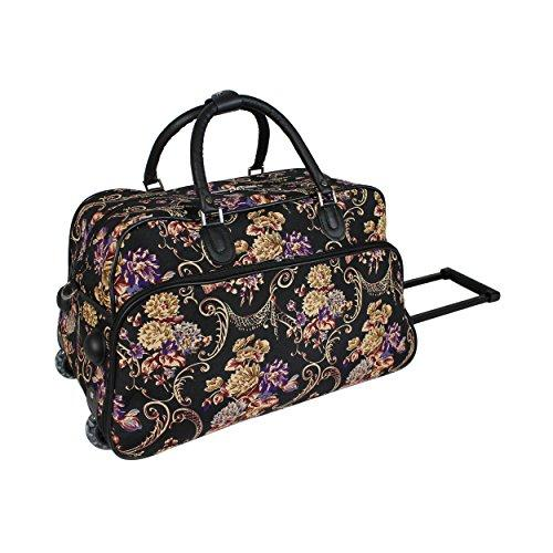 efee03f096 World Traveler 21-Inch Carry-On Rolling Duffel Bag - Classic Floral