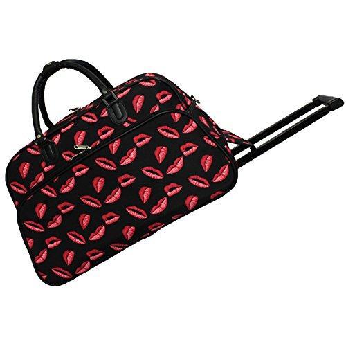 World Traveler 21-Inch Carry-On Rolling Duffel Bag - Kisses