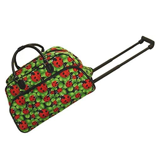World Traveler 21-Inch Carry-On Rolling Duffel Bag - Ladybug