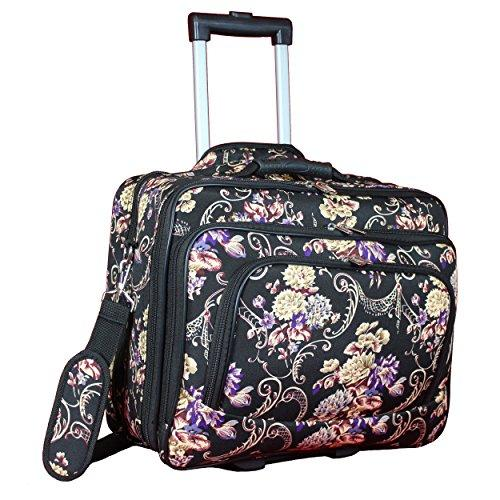World Traveler 17-inch Rolling Laptop Computer Briefcase - Classic Floral