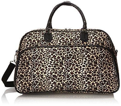 World Traveler 21-inch Carry-on Duffel Bag - Leopard