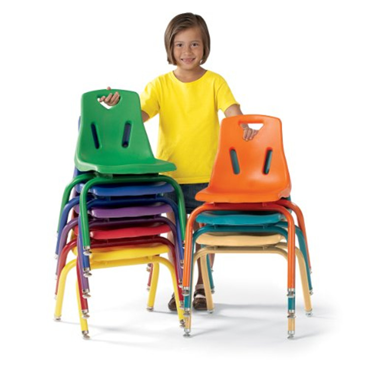 Berries® Stacking Chairs with Powder-Coated Legs - Set of 6