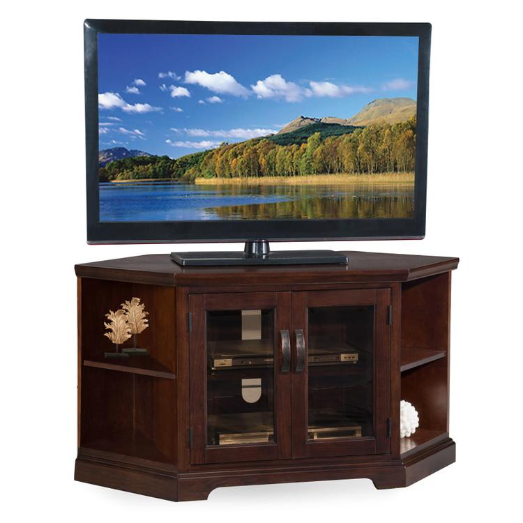 Leick Home Corner TV Stand With Bookcases