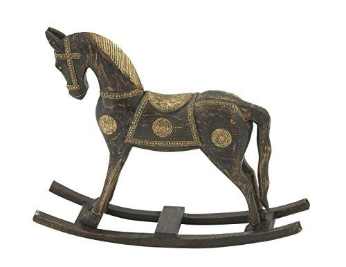 Beautiful Wood Brass Rocking Horse