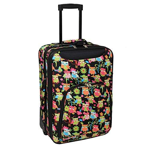 World Traveler 20-inch Carry-on Rolling Luggage - Multi Owl