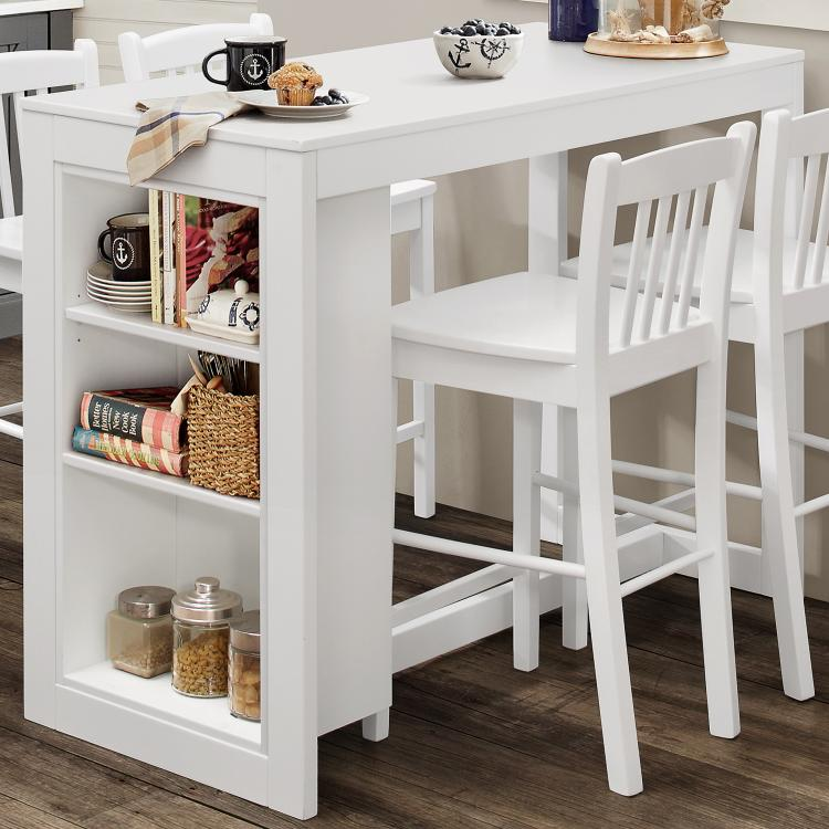 Jofran Tribeca Counter Height Dining Table with Shelving