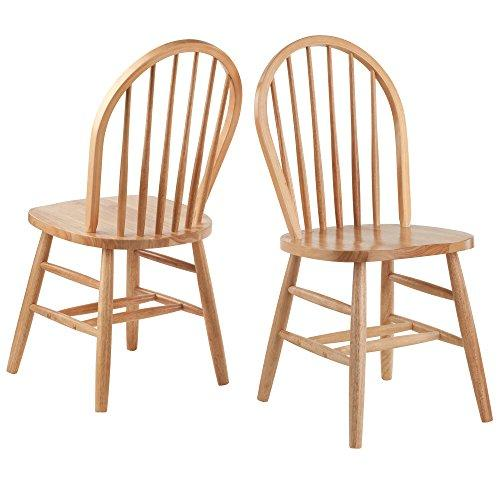 Winsome Wood Windsor Chair 2-PC Set RTA Natural