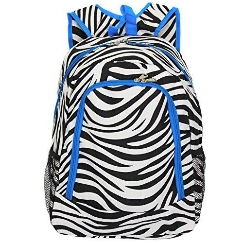 World Traveler 16-inch Multipurpose Backpack - Teal Trim Zebra [Item # 81BP5016-163-T-1]