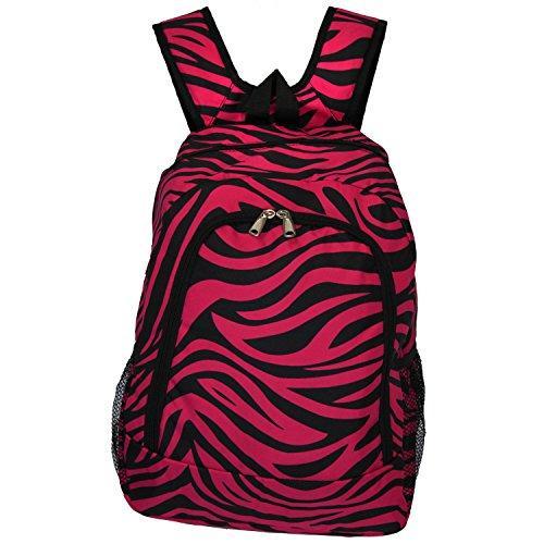 World Traveler 16-inch Multipurpose Backpack - Fuchsia Black Zebra [Item # 81BP5016-163B/F]