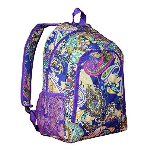 World Traveler 16-inch Multipurpose Backpack - Blue Multi Paisley
