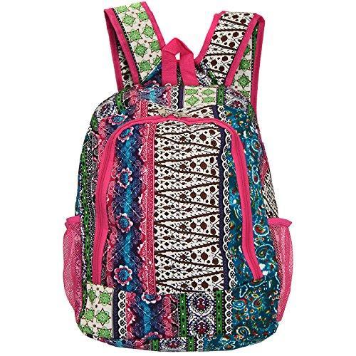 World Traveler 16-inch Multipurpose Backpack - Bohemian