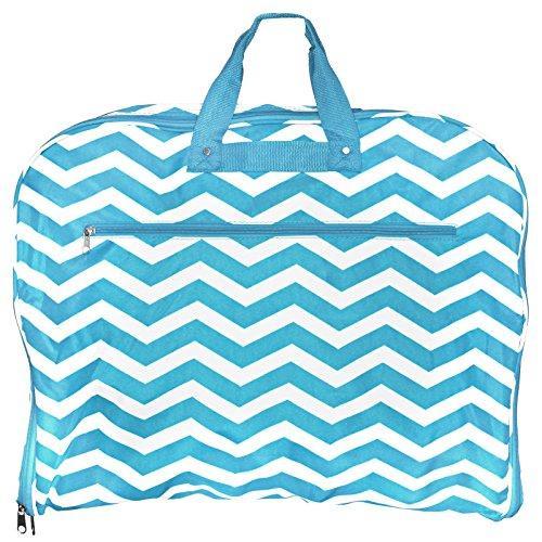 World Traveler 40-inch Hanging Garment Bag - Blue White Chevron