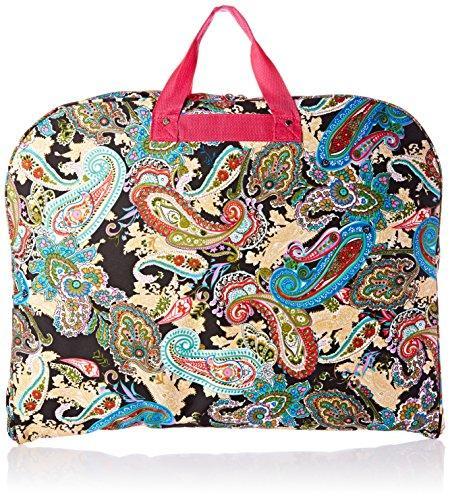 World Traveler 40-inch Hanging Garment Bag - Pink Trim Multi Paisley