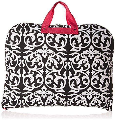 World Traveler 40-inch Hanging Garment Bag - Pink Trim Damask