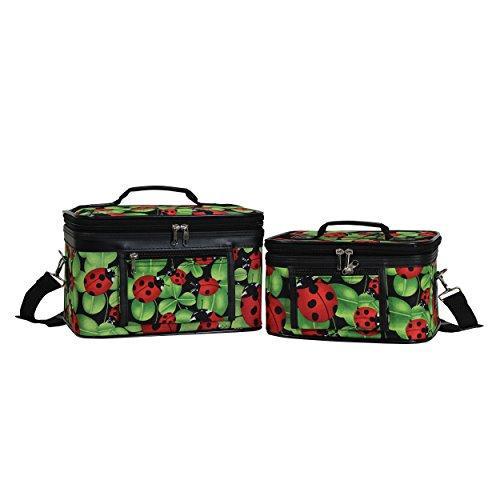 World Traveler 2-Piece Cosmetic Case Set - Ladybug