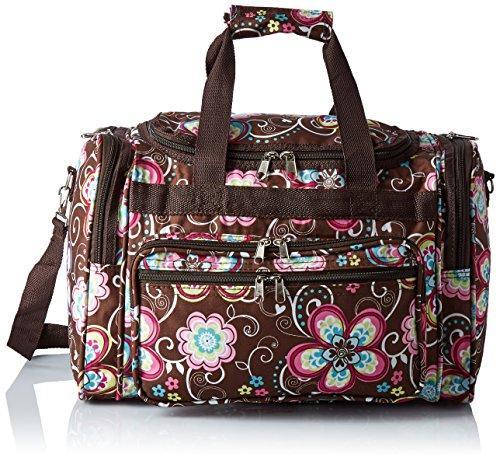World Traveler 16-inch Carry-On Duffel Bag - Brown Daisy