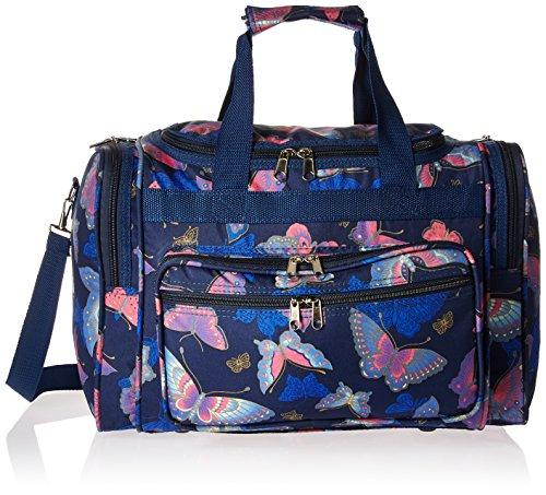 World Traveler 16-inch Carry-On Duffel Bag - Pink Butterfly