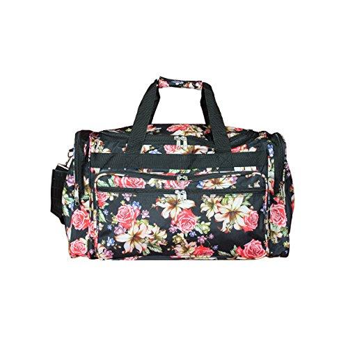 World Traveler 16-inch Carry-On Duffel Bag - Rose Lily