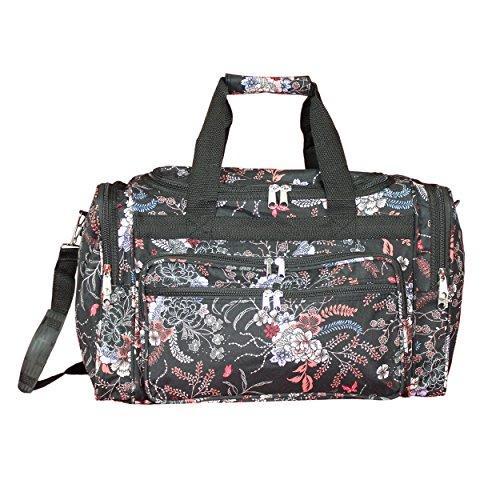 World Traveler 16-inch Carry-On Duffel Bag - Flower Bloom
