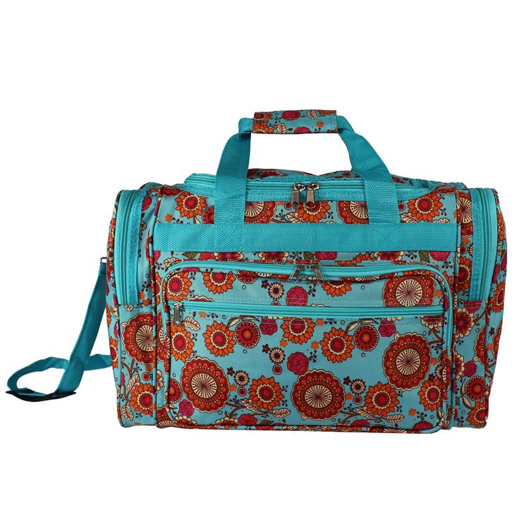 World Traveler 16-inch Carry-On Duffel Bag - Wildflowers