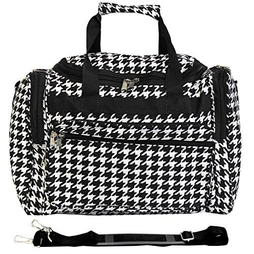 World Traveler 16-inch Carry-On Duffel Bag - Black Trim Houndstooth