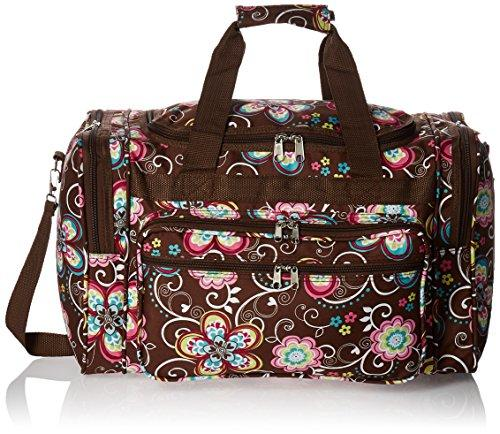 World Traveler 19-inch Carry-On Shoulder Duffel Bag - Brown Daisy