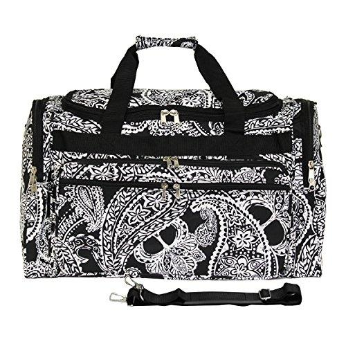 World Traveler 19-inch Carry-On Shoulder Duffel Bag - Black White Paisley [Item # 81T19-640]