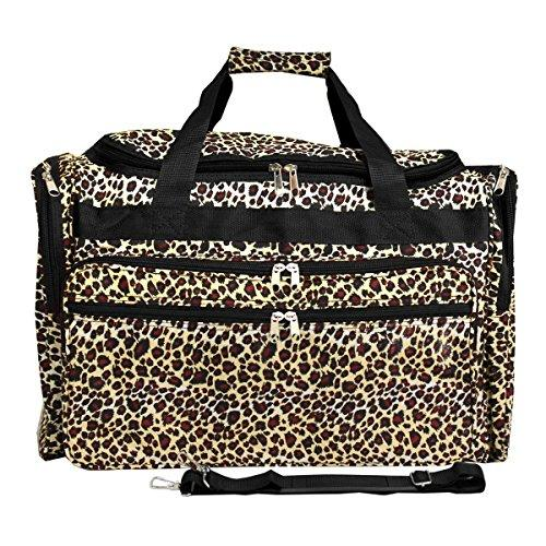 World Traveler 22-inch Travel Duffel Bag - Leopard