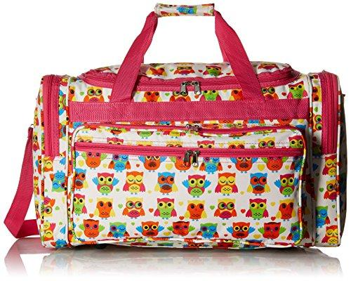 World Traveler 22-inch Travel Duffel Bag - Owl Pink