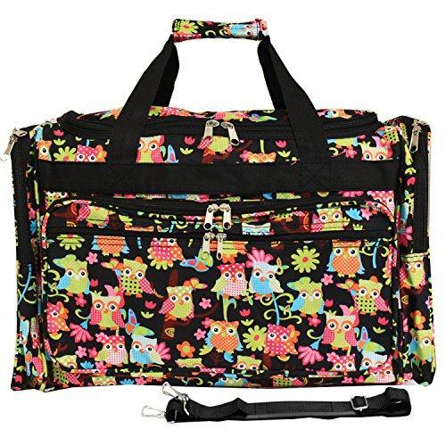 World Traveler 22-inch Travel Duffel Bag - Multi Owl