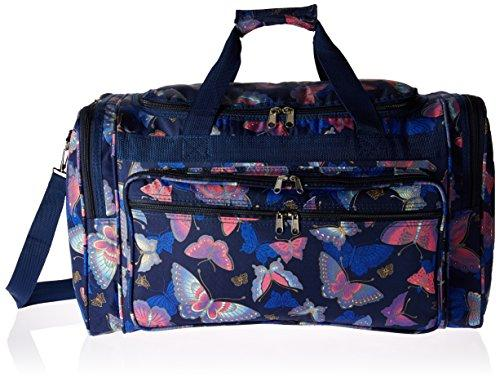 World Traveler 22-inch Travel Duffel Bag - Pink Butterfly