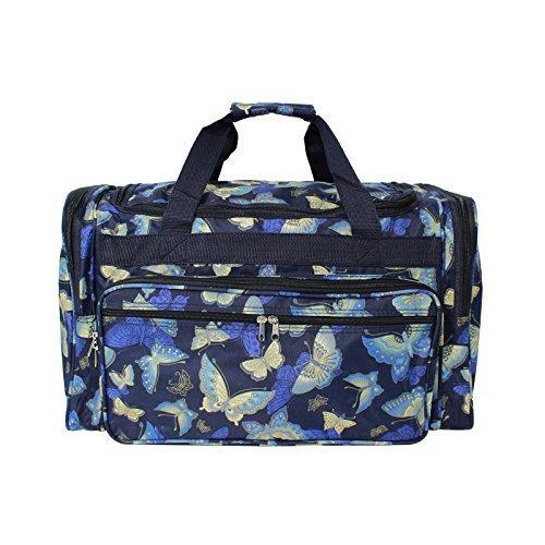 World Traveler 22-inch Travel Duffel Bag - Gold Butterfly