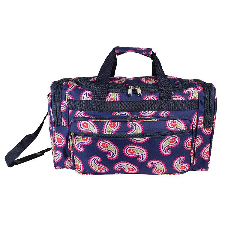 World Traveler 22-Inch Carry-On Duffel Bag - Floral Paisley