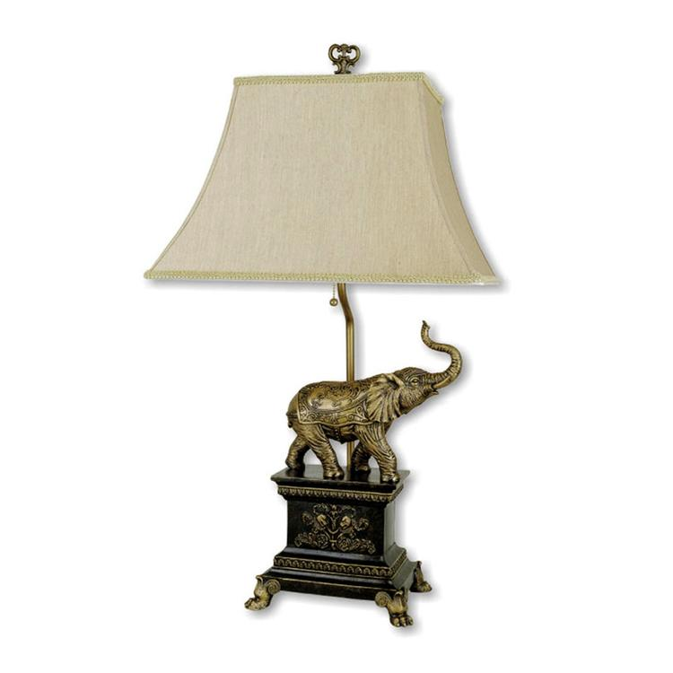 ORE International Elephant Table Lamp - Antique Gold