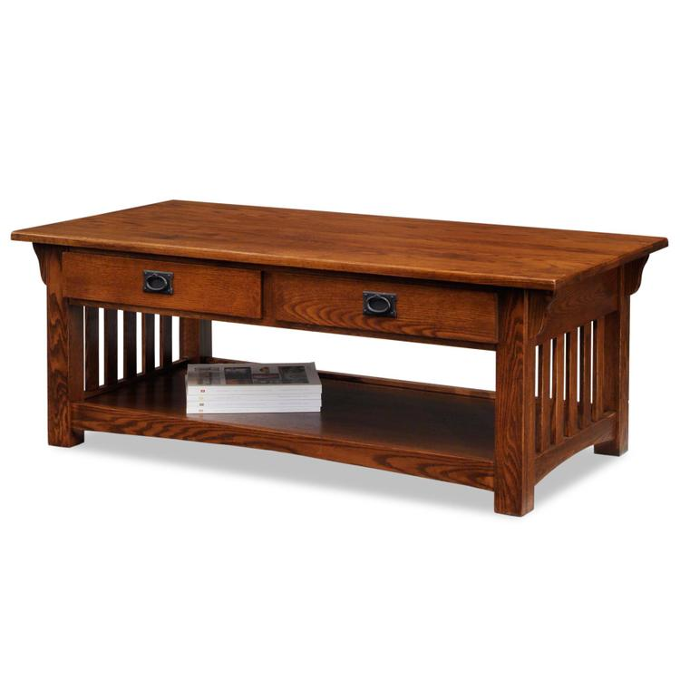 Leick Home Two Drawer Coffee Table