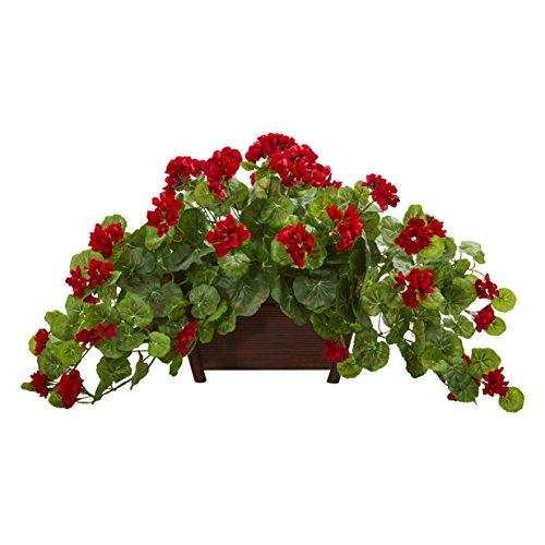 Nearly Natural Geranium Artificial Plant in Decorative Planter [Item # 8204D]