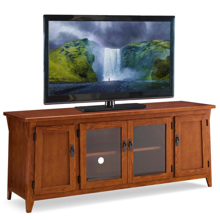 Leick Home Canted Side Four Door TV Console