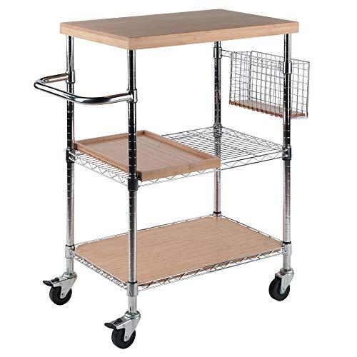 Winsome Wood Medera Kitchen Cart in Natural Bamboo