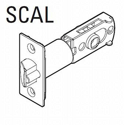 Kwikset 83520-3 UL Adjustable Square Corner Springlatch Bright Brass Finish