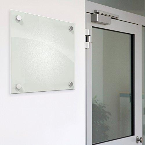 Enlighten White, non-magnetic Glass Boards 1x1