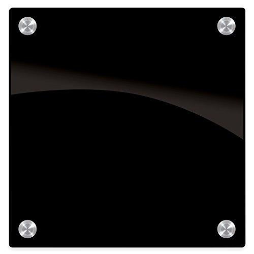 Enlighten? Glass Dry Erase Markerboard - Black