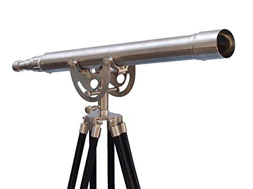 Floor Standing Brushed Nickel Anchormaster Telescope 50''
