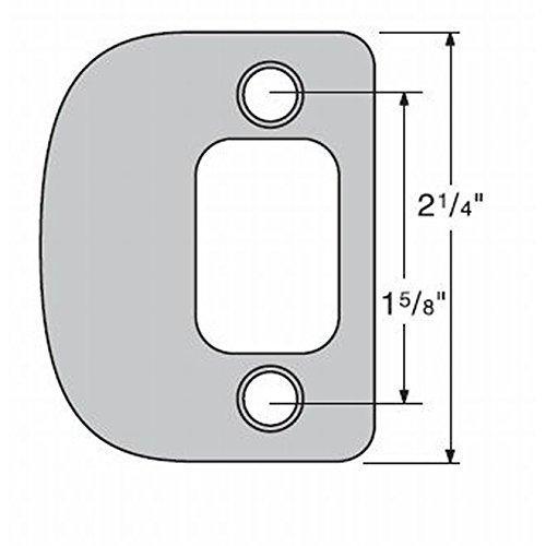 Kwikset 85303-15 Radius Corner Deadbolt Full Lip Strike Satin Nickel Finish [Item # 85303-15]