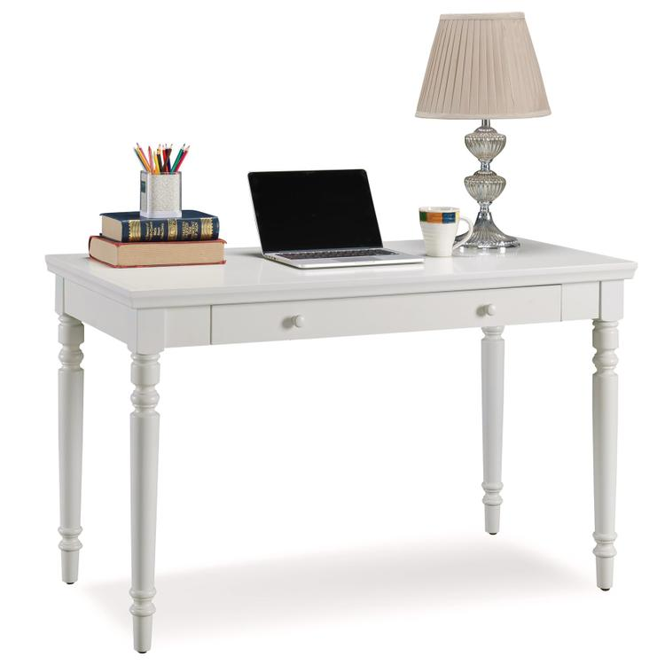Leick Home Cottage Turned Leg Laptop Desk With Center Drawer