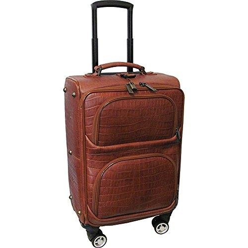 Amerileather Leather Croco-Print 24-inch Removable Spinner Wheels