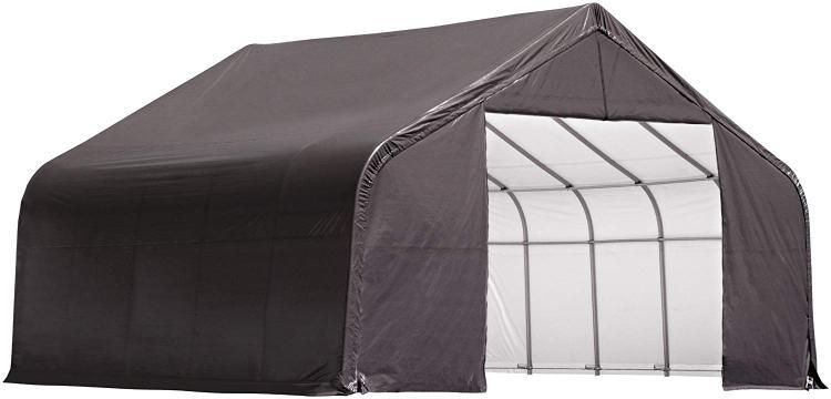 ShelterLogic 30x24x16 Peak Style Shelter, Grey Cover