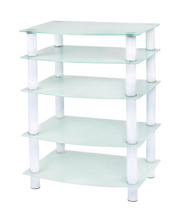 Naomi Home 5 Tier Glass AV Component Media Stand