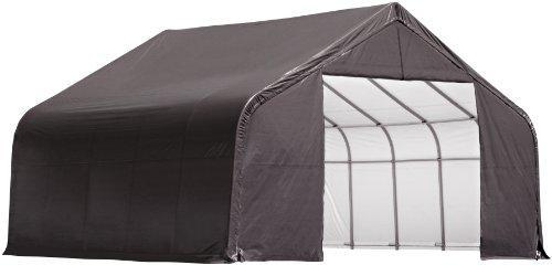 ShelterLogic 30x24x20 Peak Style Shelter, Grey Cover